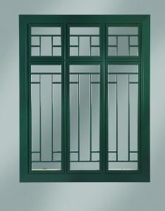 Fiberglass clad casement window.