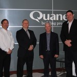 Larry Johnson of Quanex, Michael Hovan of Quanex, U.S. Congressman Bill Johnson and George Wilson of Quanex met recently at the company's Cambridge, Ohio, facility.