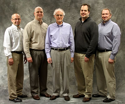 ProVia executives from left: Freddie Miller, Craig Mullet, Ed Mullet, Brent Mullet, Keith Yutzy.