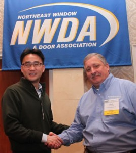 Steve Chen (left) with past NWDA president Chuck Scalzott.