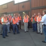 Setzer Forest Products Jeff Setzer welcomes MMPA attendees to the plant.