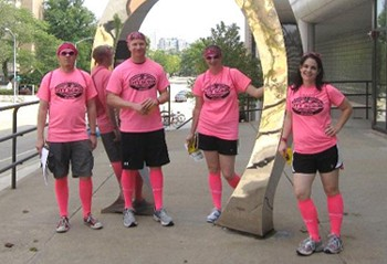 The Electric Pink team won the event. A $1,000  donation will be made on the team's behalf to local charity Tri 4 Schools.