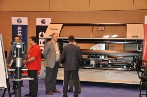 The Emmegi booth was busy throughout the show and the company sold one machine on the show floor.