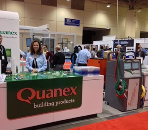 Quanex displayed its windows, including its Mikron Thermal Advantage product.