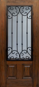 ODL's Artisan premium fiberglass door with Valencia wrought iron grilles will be on display this week.