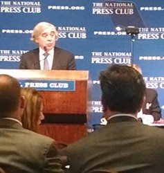 U.S. Department of Energy Secretary Ernest Moniz addressed the National Press Club in Washington D.C. earlier this week.