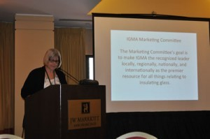 Among other topics she discussed, Margaret Webb, IGMA executive director, paid tribute to several industry members who passed away during the year at the Annual General Meeting during the 2014 Winter Conference in San Francisco.