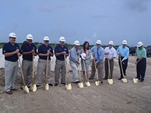 EMS breaks ground on their Ft. Meyer plant. Eastern Metal Supply, Florida Sales Manager,  Jim Flesher Eastern Metal Supply, Florida General Manager, Craig Lightle Eastern Metal Supply, Florida Co-General Manager, Dan Madden Eastern Metal Supply, Vice President and Co-owner, Greg Weekes Christel Construction President, Howard Wheeler Florida State Senator,  LizBeth Benacquisto Lee County Commissioner Chairman,  Brian Hamman Lee County Commissioner,  Larry Kiker Lee County Assistant Manager,  Douglas Muerer VIP Realty Company Realtor, Mark Morris
