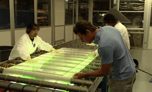Ty Pennington Gets a Close View of How Laminated Glass Is Made at Viwinco Windows.