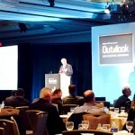 Robert A. Murray, chief economist and vice president at Dodge Data & Analytics, speaks to attendees at Dodge's 2015 Construction Outlook conference in Washington, D.C., Thursday.