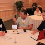 Speed networking - similar to speed dating - was one of the activities at the conference.