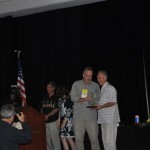Kim Flanary, right, receives award from Steve Fronek.