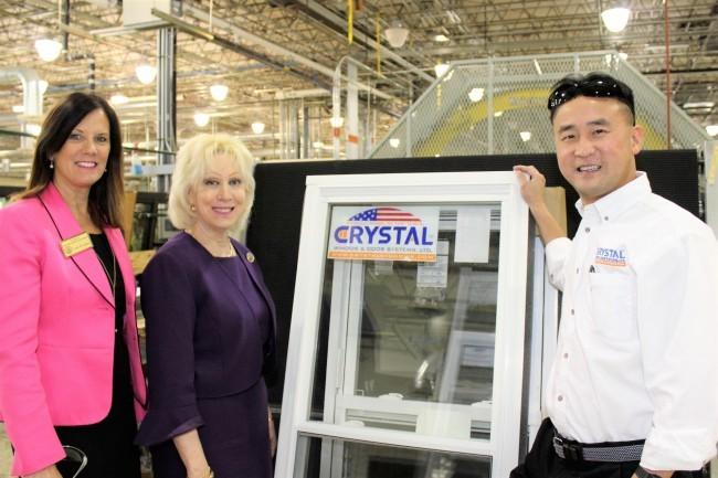 State Representative Karen Boback (center) And Her District Constituent  Outreach Coordinator Leslie Cadden (left) Recently Toured Crystal Window U0026  Door ...